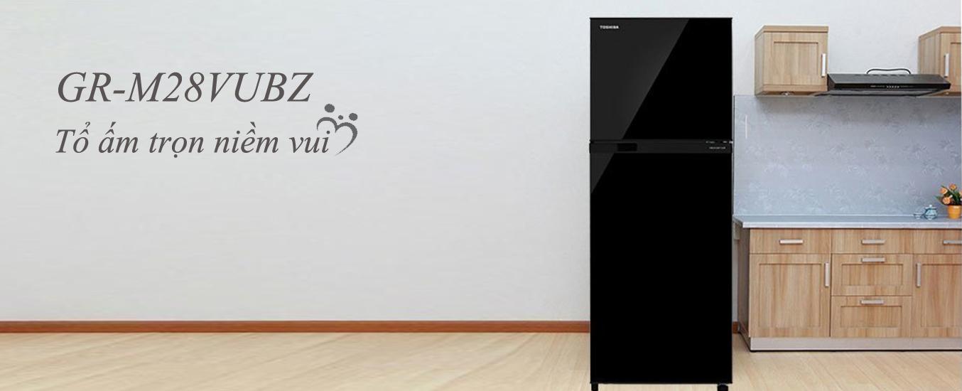 Tủ lạnh Toshiba GR-A28VU(UK) màu đen sang trọng
