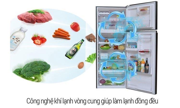 Tủ lạnh Toshiba GR-M28VUBZ(UK) 226 lít đen bảo quản thực phẩm tươi ngon xanh mát