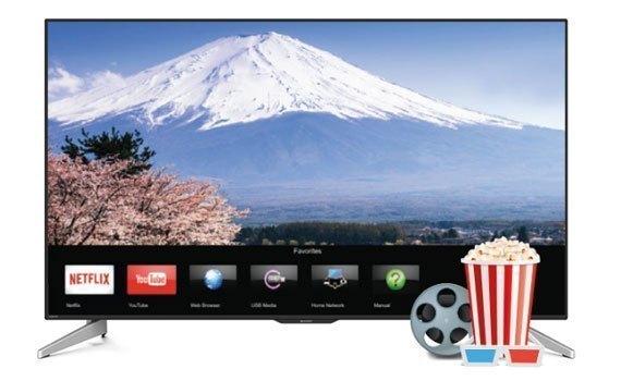 Tivi LED Sharp LC-50UA440X với viền màn hình siêu mỏng