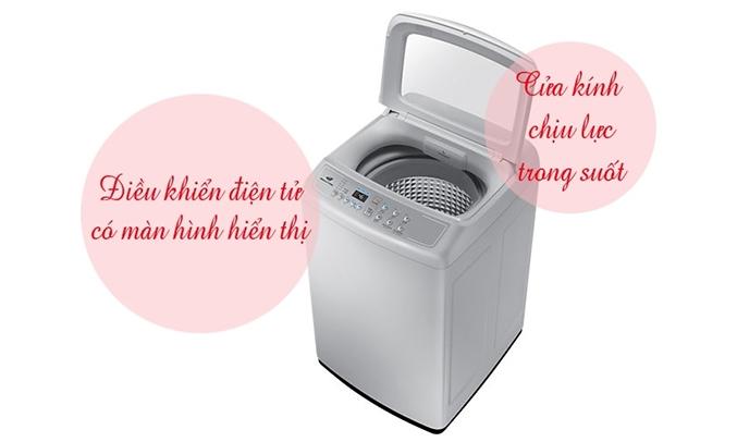 Máy giặt Samsung WA72H4000SG 7.2 kg hiển thị dễ nhìn
