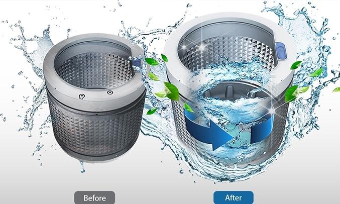 Máy giặt Samsung WA72H4000SG 7.2 kg vẹ sinh lồng giặt