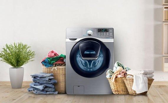 Máy giặt sấy Samsung 17 kg WD17J7825KP thiết kế hiện đại