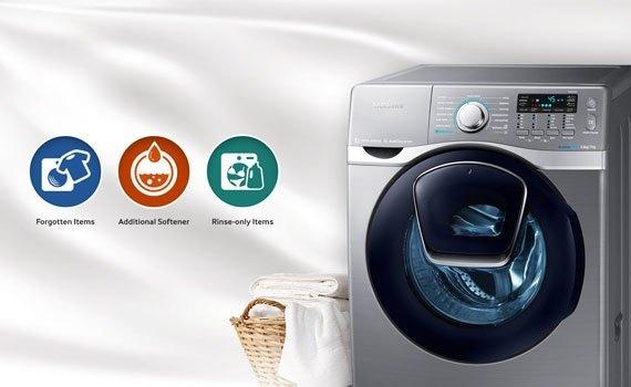 Máy giặt sấy Samsung 17 kg WD17J7825KP có thể giặt bổ sung