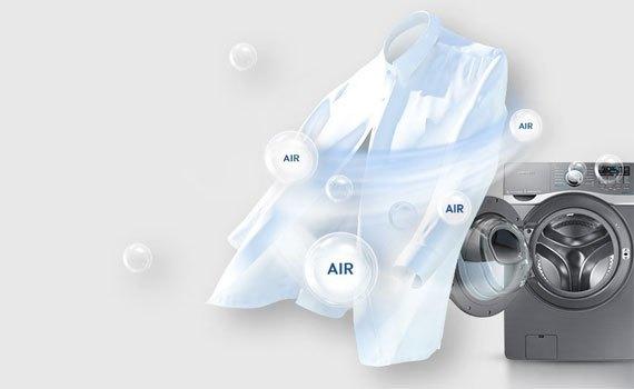 Máy giặt sấy Samsung 17 kg WD17J7825KP khử trùng quần áo