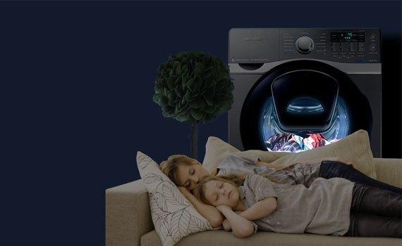 Máy giặt sấy Samsung 17 kg WD17J7825KP chống ồn
