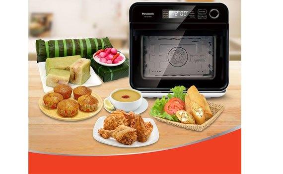 Lò hấp nướng đối lưu Panasonic nu-sc100wyue giá hấp dẫn tại siêu thị điện máy Nguyễn Kim