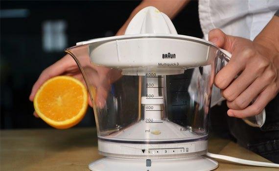 Máy vắt cam Braun MPZ9 20W giúp bạn có được ly nước ép cam bổ dưỡng