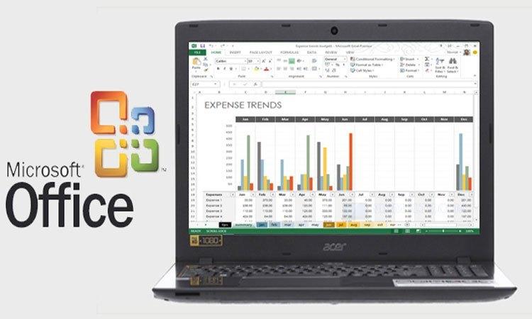 Máy tính xách tay Acer Aspire E5-575-525G hỗ trợ soạn thảo văn bản mượt mà hơn