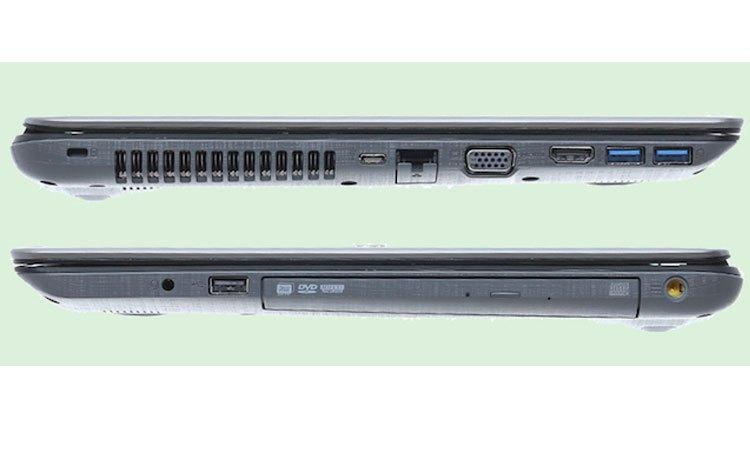 Máy tính xách tay Acer Aspire E5-575-525G có nhiều cổng kết nối