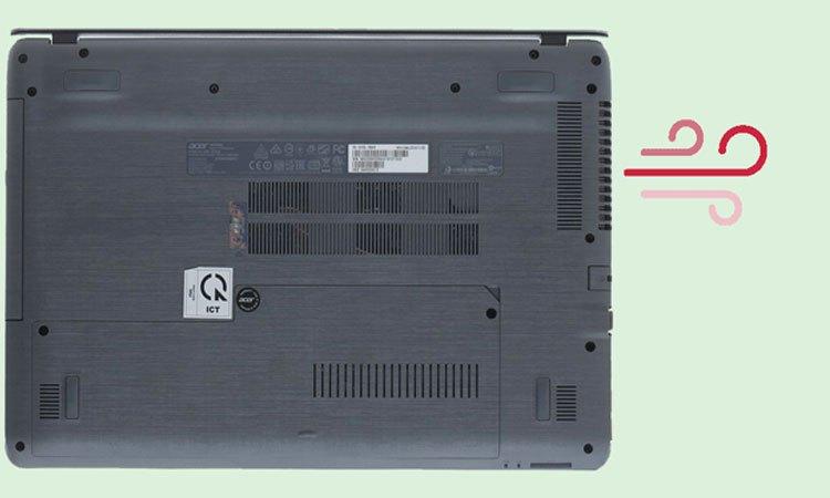 Máy tính xách tay Acer Aspire F5-573G-55HV thời lượng pin sử dụng khá
