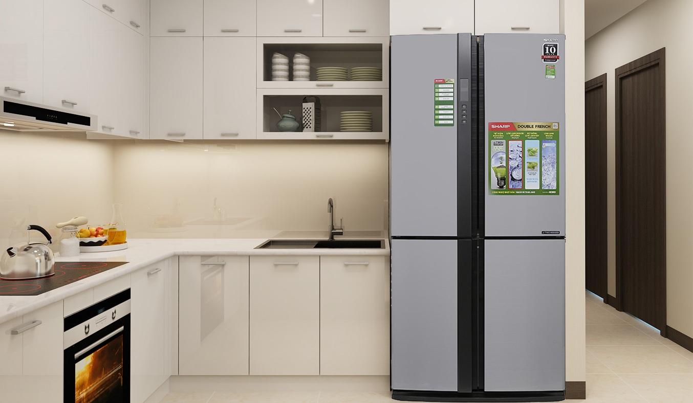 Tủ lạnh Sharp 626 lít SJ-FX631V-SL có dung tích lớn