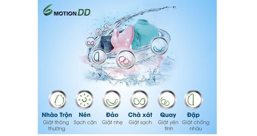 Máy giặt LG WD-14660 6 chương trình giặt sạch áo quần vượt trội