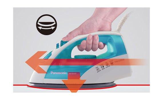 Bàn ủi hơi nước Panasonic NI-E410TMRA là phẳng thẳng tắp quần áo