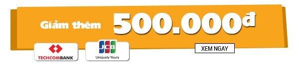 Khuyến mãi giảm thêm đến 1.000.000 VNĐ khi thanh toán MasterCard