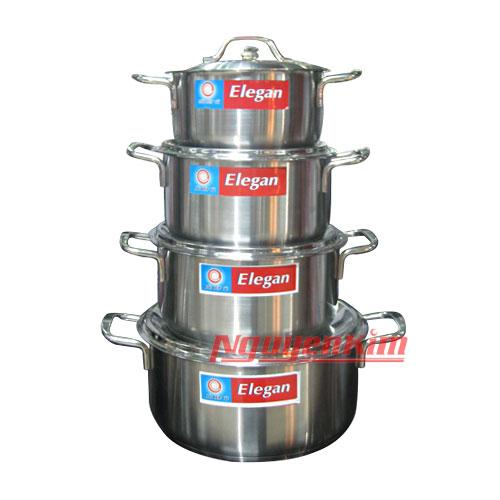 Bộ nồi Happy Cook 3 đáy Elegan EL-08IH giá tốt khuyến mãi hấp dẫn tại Nguyễn Kim
