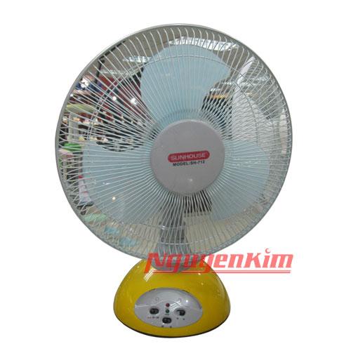 QUẠT SẠC SUNHOUSE SH712 (VÀNG) - Quạt Điện - Quạt Máy - Sản Phẩm Điện Gia Dụng - Siêu thị điện máy Nguyễn Kim