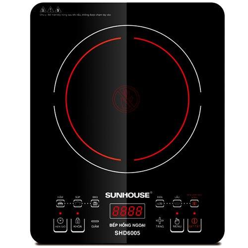 Mua bếp hồng ngoại loại nào tốt, chất lượng, Sunhouse SHD6005
