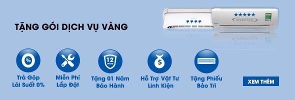Sắm máy lạnh miễn phí gói dịch vụ vàng