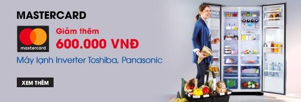 Máy lạnh Inverter Toshiba, Panasonic - Mastercard giảm thêm 600k